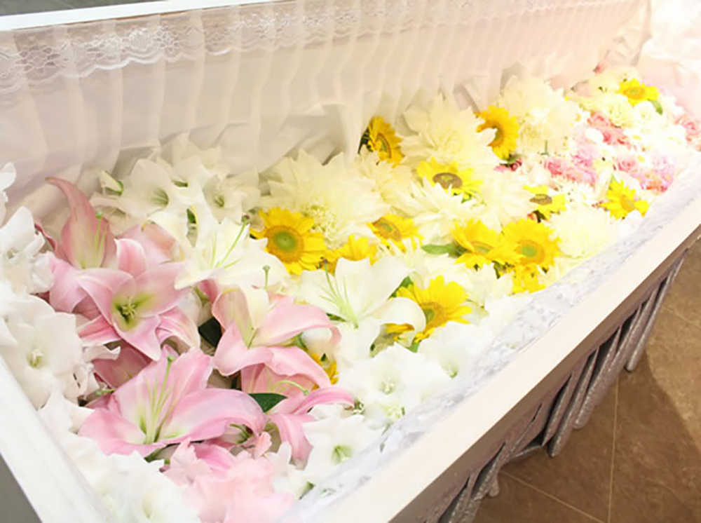 春日部市の家族葬の礼儀作法の写真